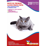 Papel Foto Premium Rc Luster A3/260g/20hojas Envio Gratis X4