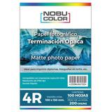 Papel Foto Matte Nobucolor 4r 102x152 Mm. 200 Gr. 100 Hojas