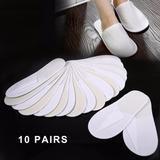 10 Pares De Zapatillas Desechables, 27 X 11 Cm
