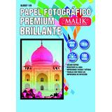 Papel Fotografico Glossy Brillante A4 De 120gr 100 Hojas