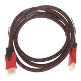 Cable Hdmi 1.5 Metros Full Hd Blindado,enmallado Y Reforzado