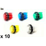 Boton Arcade Iluminado Baolian X 10 - Arcade Fox
