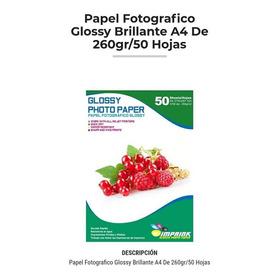 Papel Fotografico Glossy A4. 260 Gr. 50 Hojas.