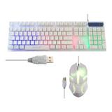 Kit Gamer Pc Teclado Retroiluminado + Mouse Aoas M-400