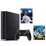 Playstation 4 Ps4 Slim 500gb + Fifa 18 + Horizon - Sniper