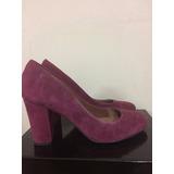 Zapatos Via Uno Color Burdeo