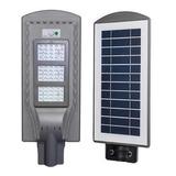 Foco Solar Led Exterior Lupa Luminaria + Poste Y Sensor 60w