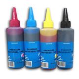 Pack 4 Tintas 100 Ml Universal Para Epson Hp Canon Lexmark