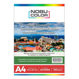 Papel Foto Semi Brillo Nobucolor A4 230 Gr. 50 Hojas