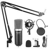Kit Microfono Pro Estudio Bm700 + Brazo + Antipop + Envio