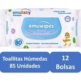 Toallitas Humedas 12 Bolsas 85c/u Pack 170  Emuwipes Premium