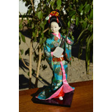 Geisha - Muñecas Orientales De Colección - Modelo Guitarra