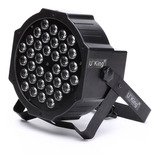 Foco18 Led Uv Negro Luz Dmx Fiesta Fluor Ml2358