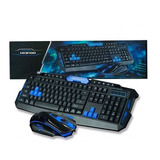 Kit Teclado Gamer Inhalambrico Hk8100
