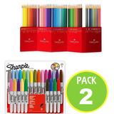 Pack Marcador Sharpie 05612 + 60 Lapices Colores / Fernapet
