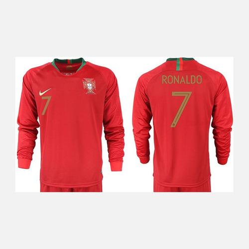 1e7da3c55f Camiseta Manga Larga Portugal Ronaldo Rusia 2018