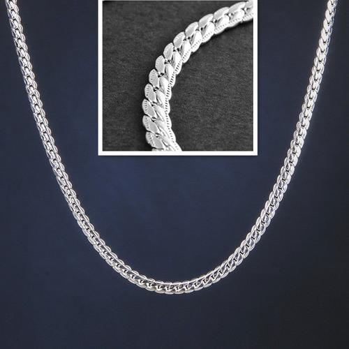 96f2c71e514d Collar Plata Cadena Hombre Joya Plata Ley 925 Maciza Figaro