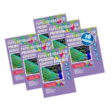 Pack 6 Papel Fotografico Adhesivo Brillante 135gr 50hojas A4