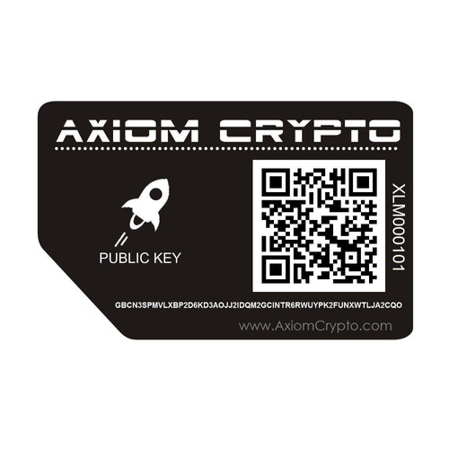 Tarjeta De Almacenamiento De Metal Cold Wallet Para Stellar