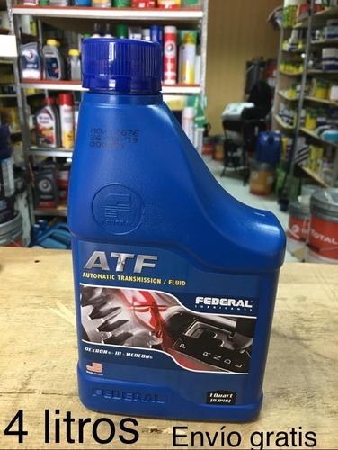 Aceite Caja Autom Federal 4litros Atf Dexron3 Envío Gratis
