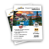 Papel Fotográfico Cursor 135gr Adhesivo Pack 100 Uni