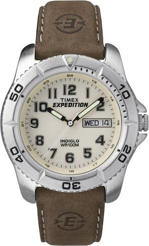 4d341b6199e8 Reloj Timex T46681 Expedition Con Correa De Cuero Marrón.