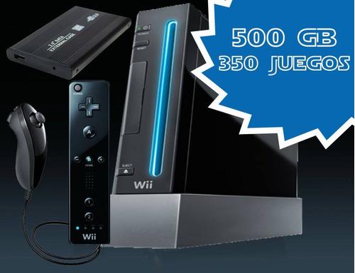 Nintendo Wii Con Disco Duro De 500gb 320 Juegos+3000 Retro
