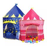 Carpa Castillo Infantil Niños Y Niñas Azul O Rosado