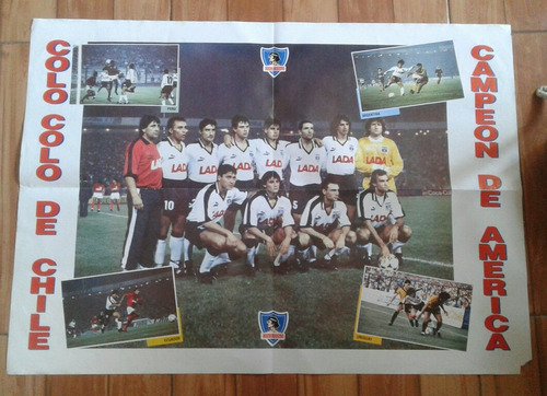 Poster Colo Colo Campeon Copa Libertadores America 1991