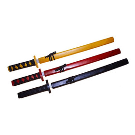 Pak 3 Katana Japonesa Madera Kendo Entrenar 73cm 3 Colores