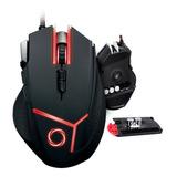Mouse Gamer Nibio Gear 9 Botones 4000dpi Con Pesas Rgb