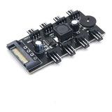 Conector Hub 8 Canal Splitter Ventilador 3pin Cpu Sata 15pin