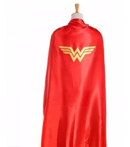 Capa Y Antifaz Mujer Maravilla Wonder Woman Disfraz Adulto