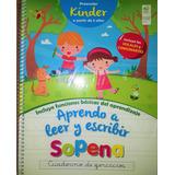 Sopena Caligrafía Kinder, Aprendo A Leer Y Escribir