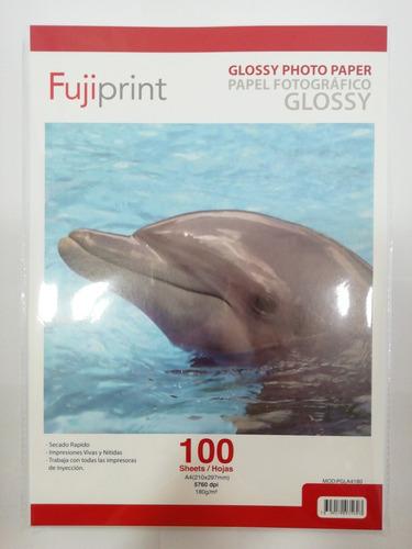Papel Fotográfico 100 Hojas Glossy Brillante A4 180grs