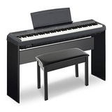 Yamaha P115 Holiday Home Bundle Con Soporte Para Muebles,...