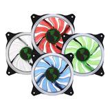 Ventilador Pack 4 Cooler Luz Led 12cm Gamer Gabinete Uncolor