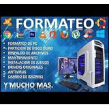 Formateo Pc & Notebook A Domicilio Windows, Office, Instalac
