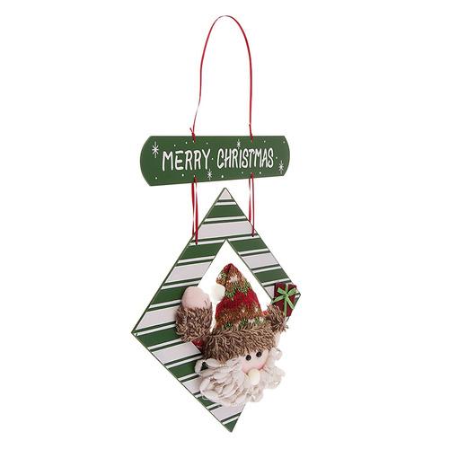 92586e0c7c6 Navidad Placa De Madera Casa Puerta Colgante Adornos Decorac