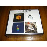 Box Cd Coldplay / Los 4 Primeros Cds (nuevo Y Sellado)