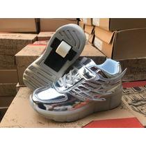 Oferta Led Roller Shoes Zapatilla Con Rueda  Retráctil Niña