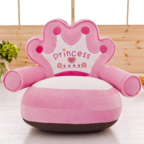 8dd2f645b6f Cojin Sofa Sillon Princess De Tela Plush Para Niños