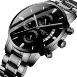 Reloj Nibosi 2309 Negro Para Hombre Impermeable Cronógrafo