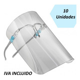 Escudo Facial  Protector Con Gafas - Mica X 10 Unidades
