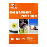 Papel Foto A3 Glossy Adhesivo 130gr. 20 Hojas