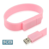 Flash Usb 8gb Silicon Bracelets 2.0 Disk Rosa