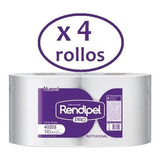 Toalla Papel Rendipel Jumbo 1hoja 190 Metros X4 Rollos