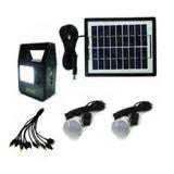 Kit Solar Emergencia 2 Ampolletas Cargador Usb Panel Solar