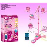 Microfono Pedestal Juguete Mp3 Con Luces Infantil Niños