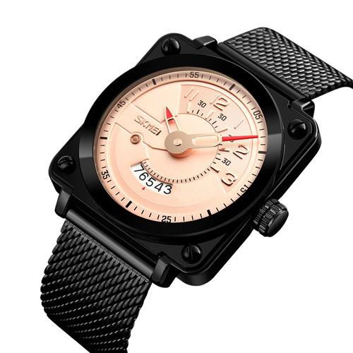 5646eacfef17 Relojes De Hombres Cuarzo De Acero Inoxidable Skmei Moda 3at